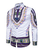 preiswerte Herren T-Shirts & Tank Tops-Herrn Geometrisch - Grundlegend / Chinoiserie Hemd