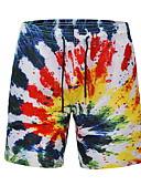 ieftine Pantaloni Bărbați si Pantaloni Scurți-Bărbați Activ / Șic Stradă Pantaloni Chinos Pantaloni Bloc Culoare / Curcubeu