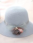 זול חליפות שני חלקים לנשים-קיץ ורוד מסמיק בז' כחול בהיר כובע קש אחיד קש בסיסי חג בגדי ריקוד נשים