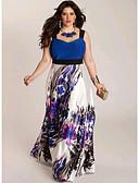 رخيصةأون فساتين طويلة-فستان نسائي ثوب ضيق طويل للأرض مع حمالة مناسب للخارج / شاطئ