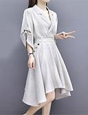 preiswerte Bluse-Damen Grundlegend Chiffon Kleid Asymmetrisch