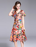 cheap Plus Size Dresses-SHIHUATANG Women's Street chic / Sophisticated A Line Dress - Floral Print