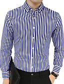 ieftine Tricou Bărbați-Bărbați Cămașă Muncă Afacere - Dungi / Manșon Lung