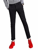 povoljno Muške duge i kratke hlače-Muškarci Osnovni Chinos Hlače Jednobojni