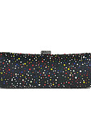 cheap Fashion Scarves-Women's Bags Alloy Evening Bag Crystals Black