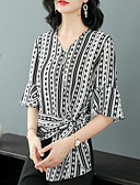 hesapli Kadın Gecelikleri-Kadın's Bluz Çizgili Vintage / Temel