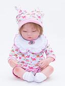 abordables Sombreros de mujer-FeelWind Muñecas reborn Bebés Niñas 18 pulgada Recién nacido natural A mano Segura para Niños Non Toxic Interacción padre-hijo Kid de Chica Juguet Regalo
