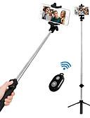 halpa Telineet ja jalustat-VORMOR Selfie-tikku Bluetooth Pidennettävä Maksimi pituus 77 cm Käyttötarkoitus Android / Kansainvälinen / iOS Android / iOS