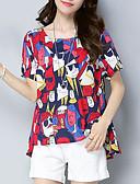 זול 2017ביקיני ובגדי ים-חולצה לנשים - צוואר גיאומטרי עגול
