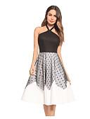 זול שמלות NYE-בגדי ריקוד נשים רזה מכנסיים - קולור בלוק מותניים גבוהים שחור / Party / קולר / סקסית