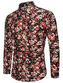 tanie Męskie koszule-męska koszula - kołnierzyk koszuli w kwiatowy kołnierzyk