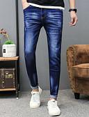 ieftine Pantaloni Bărbați si Pantaloni Scurți-Bărbați Mărime Plus Size Blugi Pantaloni Mată / Petrecere