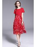 tanie Print Dresses-Damskie Wzornictwo chińskie Swing Sukienka Nadruk Midi / Lato