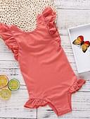 זול בגדי ים לבנות-בגדי ים כותנה ללא שרוולים גב חשוף אחיד ספורט בסיסי בנות ילדים
