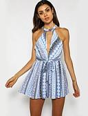 ieftine Bluză-Pentru femei Boho Salopete Geometric