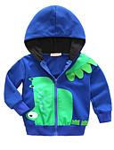 お買い得  男の子用 赤ちゃん アウター-赤ちゃん 男の子 ベーシック パッチワーク 長袖 レギュラー コットン ジャケット&コート ブルー / 幼児