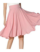 cheap Women's Skirts-Women's Going out A Line / Swing Skirts - Solid Colored High Waist