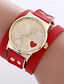 olcso Kvarc-Xu™ Női Karkötőóra / Karóra Kínai Kreatív / Alkalmi óra / Imádni való PU Zenekar Heart Shape / Divat Fekete / Fehér / Piros