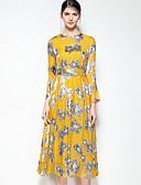 זול שמלות נשים-מידי פרחוני - שמלה נדן בגדי ריקוד נשים