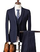 זול טישרטים לגופיות לגברים-Houndstooth דש רשמי חליפות-בגדי ריקוד גברים / שרוול ארוך