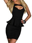 abordables Ropa Sexy de Mujer-Mujer Pitillo Pantalones - Un Color Negro Blanco / Mini / Noche / Volante / Sexy