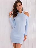 baratos Vestidos de Mulher-Mulheres Para Noite Skinny Bainha Vestido Gola Redonda Cintura Alta Mini