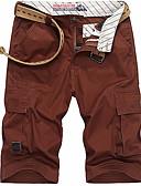 זול מכנסיים ושורטים לגברים-בגדי ריקוד גברים מידות גדולות צ'ינו מכנסיים - אחיד ירוק צבא / קיץ / סתיו