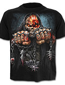 cheap Men's Tees & Tank Tops-Men's Skull / Active T-shirt - Geometric / Skull