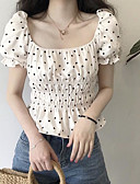 cheap Women's Tops-women's going out t-shirt - polka dot square neck
