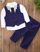 ieftine Seturi Îmbrăcăminte Băieți-Copii Băieți De Bază / Șic Stradă Zilnic / Concediu Mată Nit Manșon Lung Regular Spandex Set Îmbrăcăminte Albastru piscină