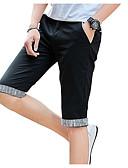 זול מכנסיים ושורטים לגברים-בגדי ריקוד גברים פעיל מידות גדולות שורטים מכנסיים - אחיד / פסים כחול בהיר / קיץ