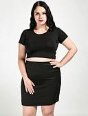 billige Eksotiske Uniformer-Dame Gade / Sofistikerede Bodycon Nederdele Ensfarvet