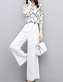 cheap Robes & Sleepwear-Women's Street chic / Sophisticated Set - Solid Colored / Geometric Pant