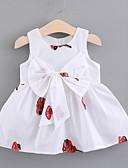 Χαμηλού Κόστους Βρεφικά φορέματα-Μωρό Κοριτσίστικα Ενεργό Καθημερινά Φλοράλ Κεντητό Αμάνικο Κανονικό Πάνω από το Γόνατο Βαμβάκι / Πολυεστέρας Φόρεμα Λευκό / Νήπιο