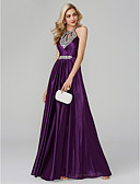 cheap Prom Dresses-A-Line Halter Neck Floor Length Silk Sparkle & Shine / Beautiful Back / Keyhole Prom / Formal Evening Dress with Sequin / Ruched by TS Couture®
