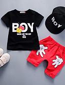 tanie Zestawy ubrań dla Chłopięce niemowląt-Dziecko Dla chłopców Aktywny / Podstawowy Codzienny / Urodziny Nadruk Patchwork Krótki rękaw Regularny Regularny Wełna / Bawełna Komplet odzieży Biały / Brzdąc