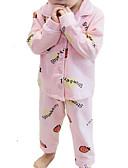 povoljno Kompletići za djevojčice-Dijete koje je tek prohodalo Djevojčice Jednobojni Dugih rukava Komplet odjeće