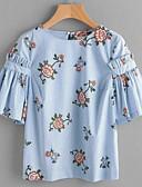 povoljno Majica s rukavima-Majica s rukavima Žene Izlasci Cvjetni print
