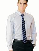 povoljno Muške košulje-Set Muškarci Rad Jednobojni