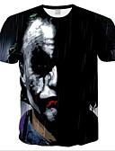 povoljno Muške majice i potkošulje-Majica s rukavima Muškarci Dnevno Portret Mrežica