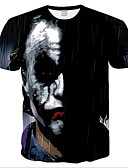 ieftine Maieu & Tricouri Bărbați-Bărbați Tricou Portret Plasă