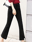 ieftine Pantaloni de Damă-Pentru femei Bumbac Bootcut / Pantaloni Chinos Pantaloni Mată