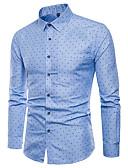 ieftine Tricou Bărbați-Bărbați Mărime Plus Size Cămașă Muncă Bumbac Afacere - Buline / Manșon Lung