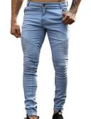 זול מכנסיים ושורטים לגברים-בגדי ריקוד גברים רזה ג'ינסים / צ'ינו מכנסיים אחיד