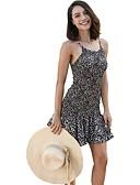 זול שמלות נשים-כתפיה מעל הברך שמלה גזרת A רזה ליציאה / חוף בגדי ריקוד נשים