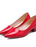 זול שמלות נשים-בגדי ריקוד נשים נעליים עור פטנט אביב קיץ בלרינה בייסיק עקבים עקב עבה בוהן מחודדת אדום / ירוק / כחול
