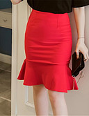 tanie Damska spódnica-Damskie Podstawowy Bodycon Spódnice Solidne kolory