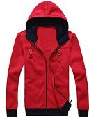 povoljno Muške jakne i kaputi-Muškarci Osnovni Hoodie Jednobojni