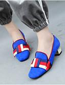 abordables Blusas para Mujer-Mujer Ante Primavera verano Confort / Talón Descubierto Zapatos de taco bajo y Slip-On Tacón Cuadrado Punta cerrada Negro / Rojo / Azul