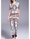 ieftine Costum Damă Două Bucăți-Pentru femei Set - Geometric, Pantaloni
